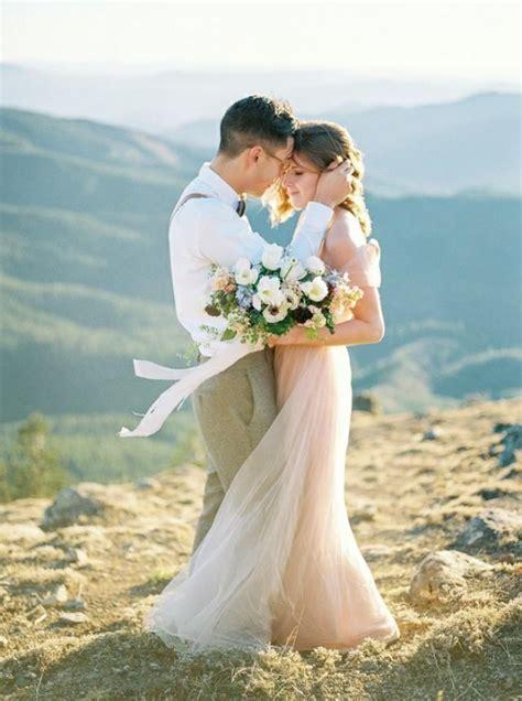 Romantic Pastel Elopement Inspiration   Wedding Sparrow