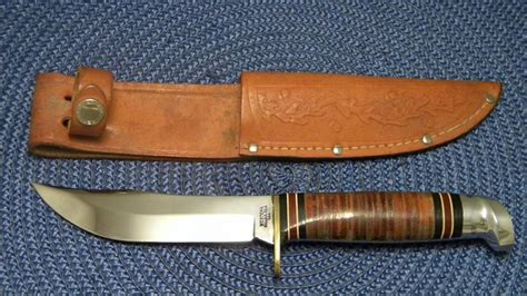 western fixed blade knives western boulder colo usa l66 stacked leather fixed blade