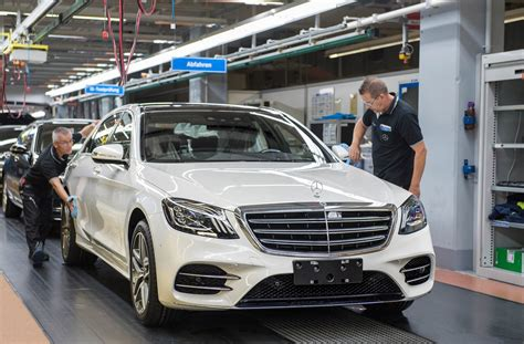 new mercedes s class drives itself the assembly line