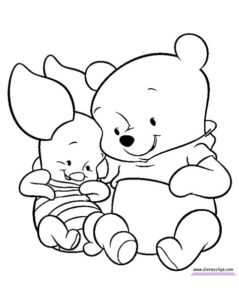 baby pooh printable coloring pages page 2 disney