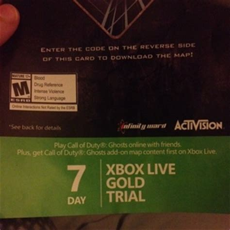 xbox 7 day trial free free 7 day xbox live gold trial code prepaid cards codes listia auctions