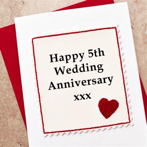 handmade 5th wedding anniversary card by arnott cards gifts notonthehighstreet