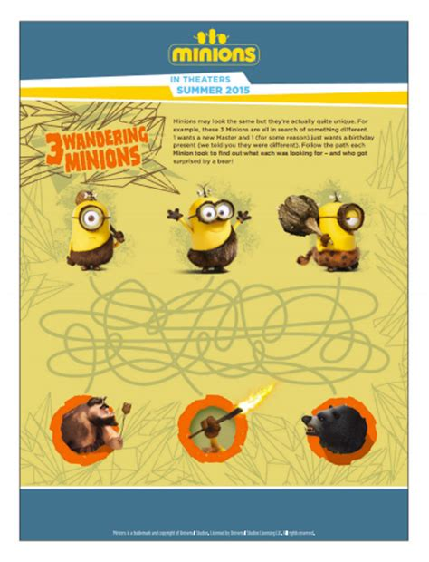 minions printable activity sheets minions free printable activities and coloring pages