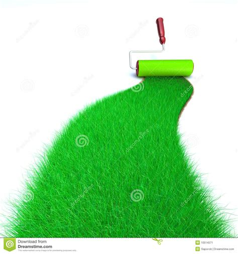 green grass painting stock image image 10514571