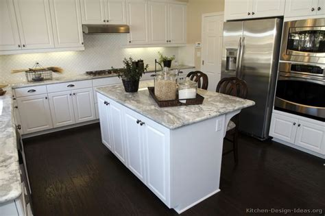 kitchens with cabinets and wood floors images