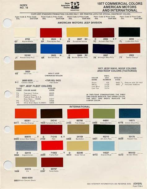 color chip selection elk or buckskin 4x4