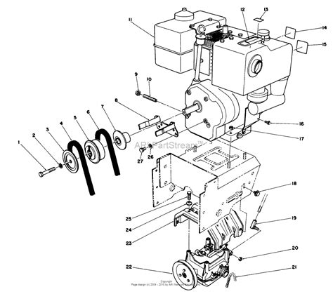 toro snowblower parts diagram an 11 drive belt diagram an free engine image for user