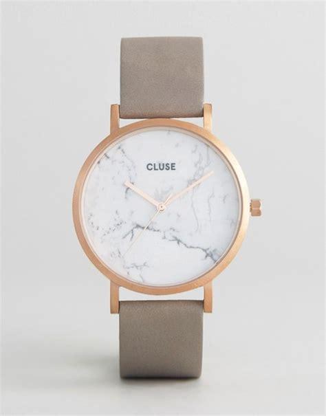 New Design Tas Wanita Fossil 2in1 cluse cluse la roche gold white marble grey leather cl40005