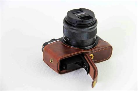 New Arrival Leather For Canon Eos M10 Kit 15 45mm キヤノン革カメラバッグ プロモーション aliexpress comでのプロモーションショッピングキヤノン革カメラバッグ