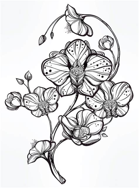 orchid sleeve tattoo designs orchid meaning tattoos with meaning