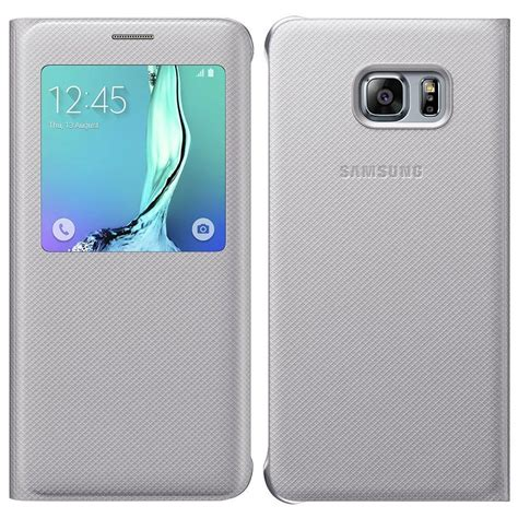 S6 Edge Plus Casing official samsung galaxy s6 edge plus s view cover silver doohickey hut