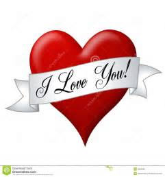 i love you banner with heart royalty free stock photos