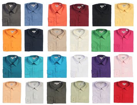 different color shirt new gioberti mens solid sleeve dress shirts