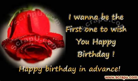 Advance Happy Birthday Wishes For Husband Advance Birthday Wishes Wishes Greetings Pictures