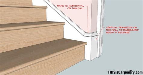 standard baseboard height raked baseboard returns thisiscarpentry