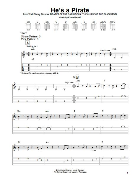 tutorial piano he s a pirate he s a pirate by klaus badelt easy guitar tab guitar