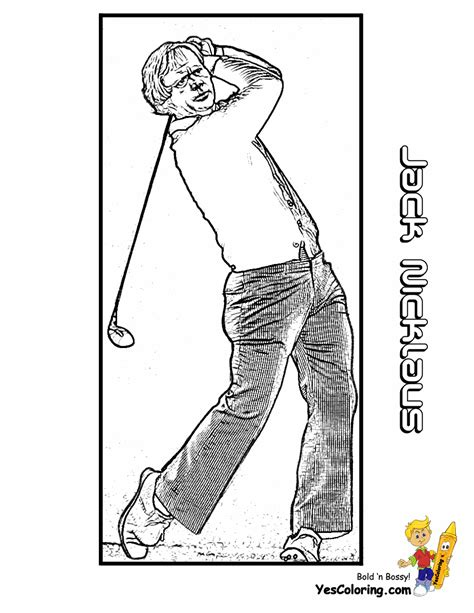 tiger woods coloring page free coloring pages of tiger woods