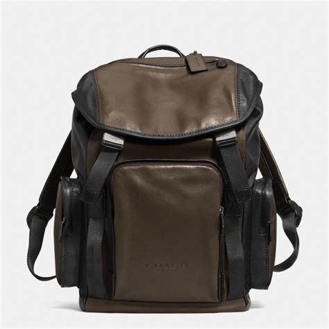 Coach Backpack 6851 1 coach sport backpack in leather in black for lyst