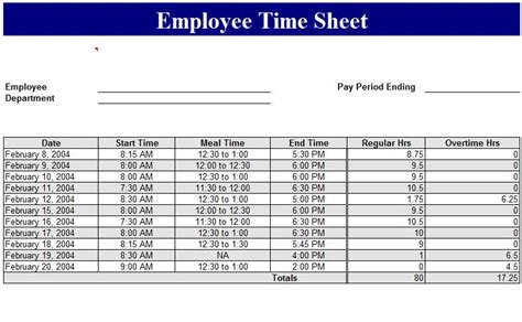 Sle Of Employee Timesheet Excel Template Management Templates Pinterest Template And Crafts Self Calculating Timesheet Excel Template