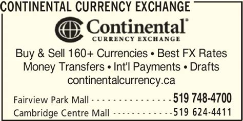 continental currency exchange opening hours 2960
