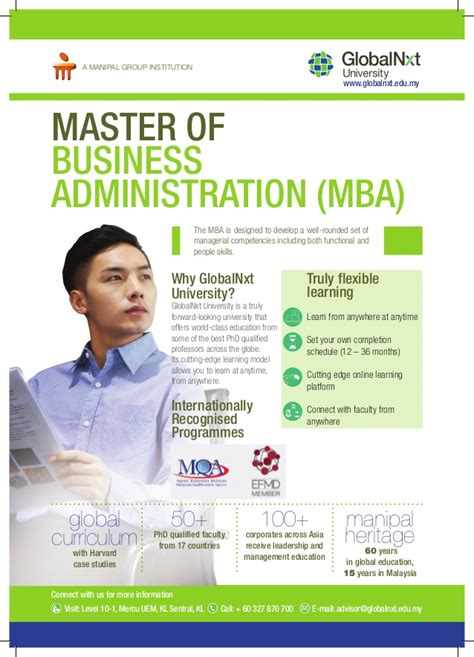 Tuition Of Mba by Mba Brochure Globalnxt