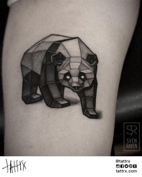 tattoo panda dessin tatouage ours panda g 233 om 233 trique plus tattoo pinterest