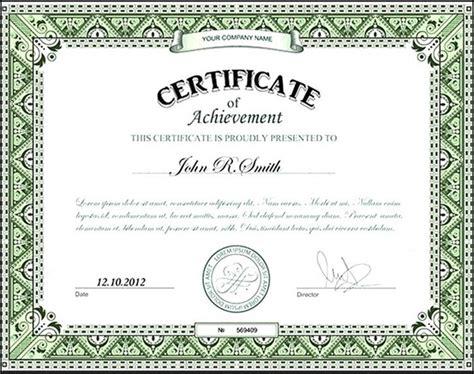 employee certificate of achievement sle templates