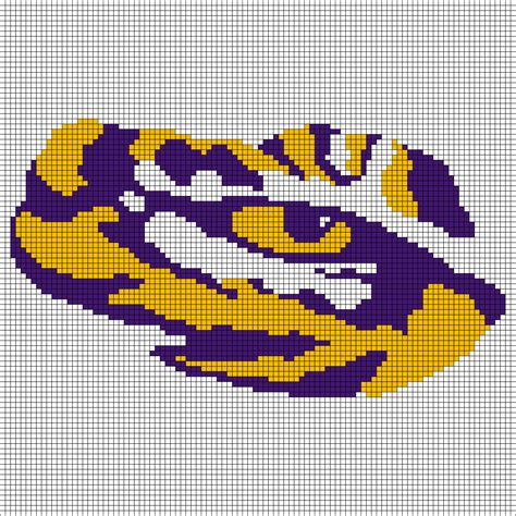 grid pattern for cross stitch can someone build a lsu cross stitch pattern grid for me