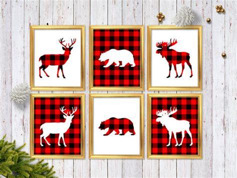 10 affordable buffalo plaid christmas decor on a budget rustic buffalo plaid wall art buffalo check woodland home