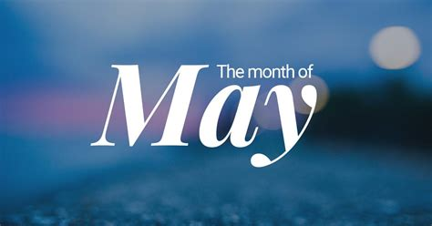 may fifth month of the year