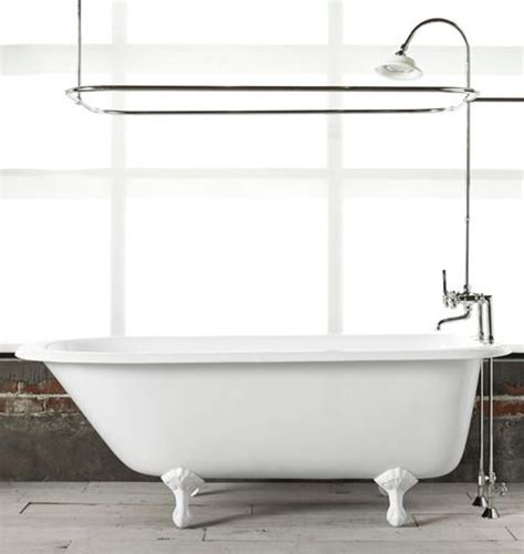 Claw Foot Tub Shower Enclosure by Rejuvenation Bath 5 1 2 Clawfoot Tub With White Exterior
