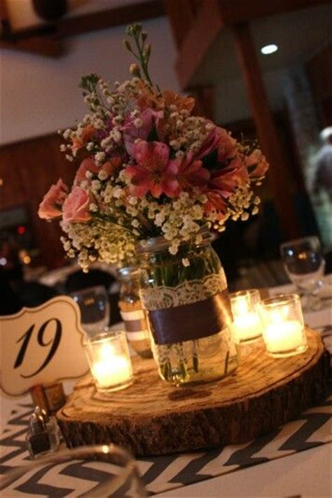 do it yourself wedding centerpieces with jars jar centerpiece center pieces candles lace and masons