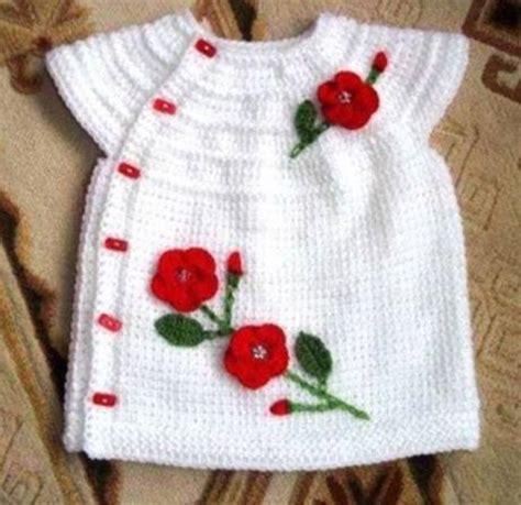 kz bebek yelegi modeli tunus isi gullu yelekli beyaz kiz bebek yelek modeli