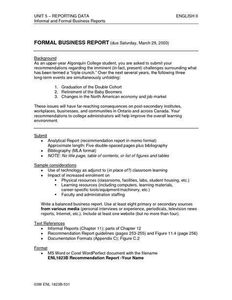 sle of report writing in business communication 28 images writing a report format fast help