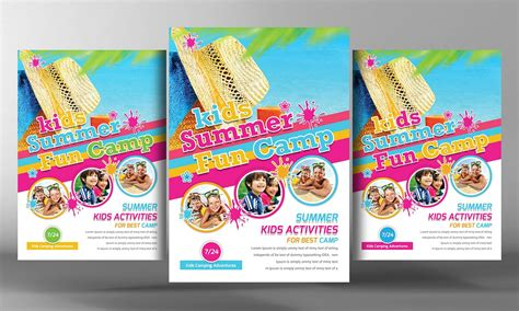 Kids Summer C Flyer Template Flyer Templates Creative Market Summer C Flyer Template