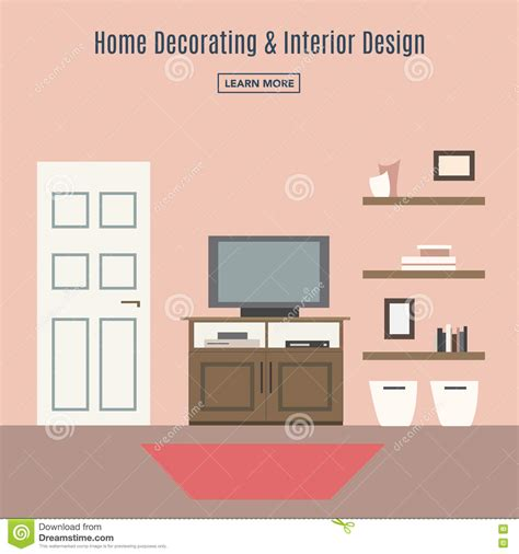 are interior layout time living room interior design infographic template vector