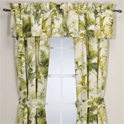 hawaiian curtains drapes tommy bahama home island botanical window valance