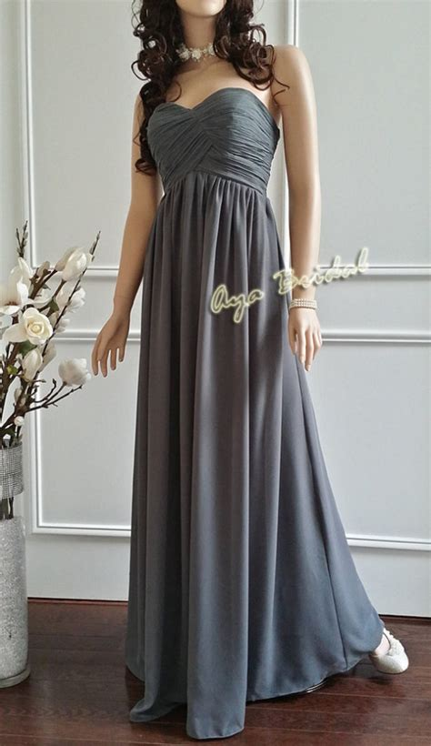 Gray Floor Length Bridesmaid Dresses by Floor Length Grey Dress Style 2017 2018 Always Fashion