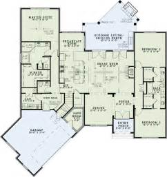 1 floor house plans european style house plans 2408 square foot home 1 story 3 bedroom and 2 bath 2 garage