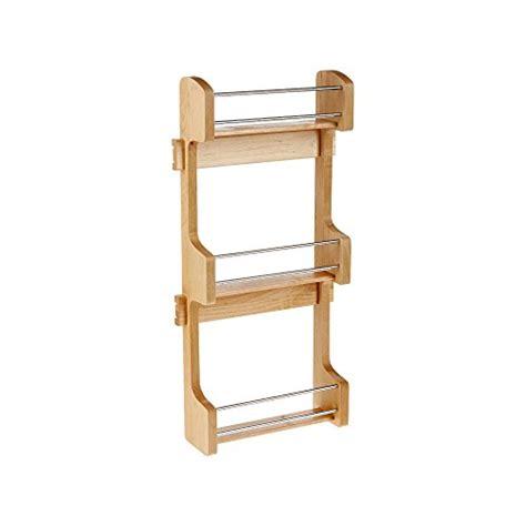 Wood Spice Rack Small Cabinet Door Mount Wood 3 Shelf Door Cabinet Door Spice Organizer