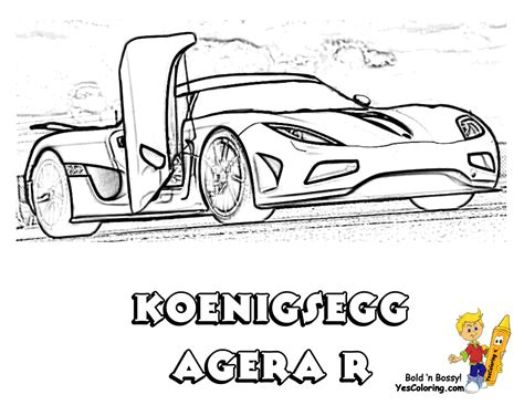 Koenigsegg Agera R Coloring Pages Striking Supercar Coloring Free Cars Coloring