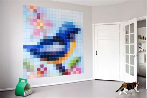 cool things to put on your bedroom wall put some pixels up your wall with ixxi s sheet displays