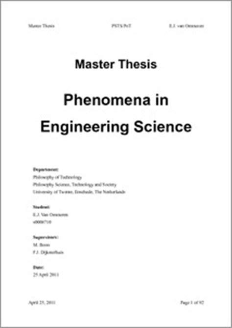 master thesis electrical power engineering phenomena in engineering science of twente