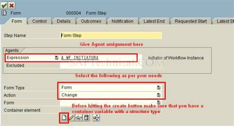 workflow tutorial sap technical saptechnical com using the step form in workflow