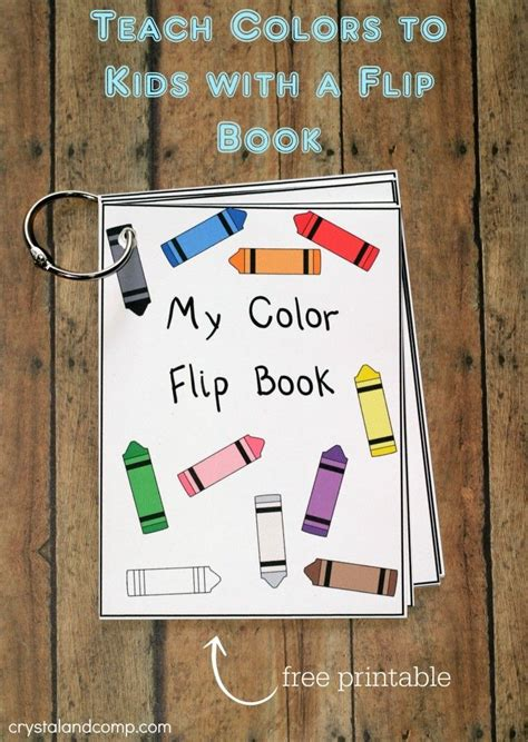 how to teach colors printable color flash card flip book activities for
