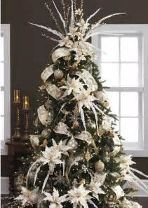 Wired Ribbon Flowers - 25 best ideas about christmas tree decorations on