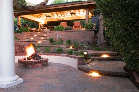 Bbq Pit Backyard Inviting Patio Outdoor Kitchen Pacific Outdoor Living