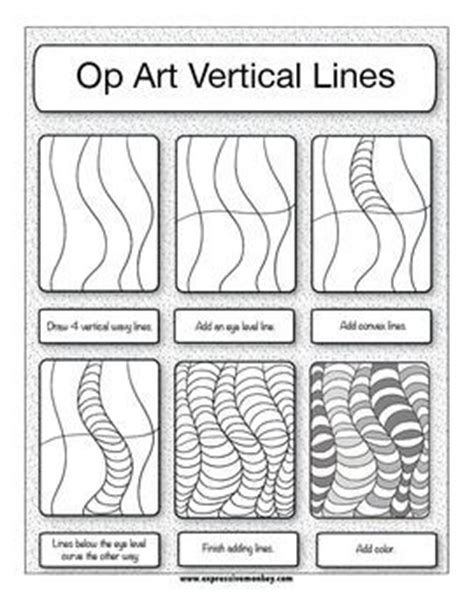 op art worksheets 3rd 5th art lessons pinterest