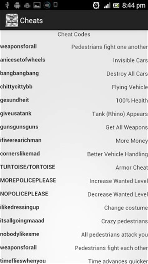 gta 3 cheats unlocker for android appszoom - Gta 3 Cheats For Android