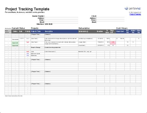 project templates free project tracking template for excel